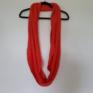 2/$30 J. Crew bright coral  infinity knit scarf